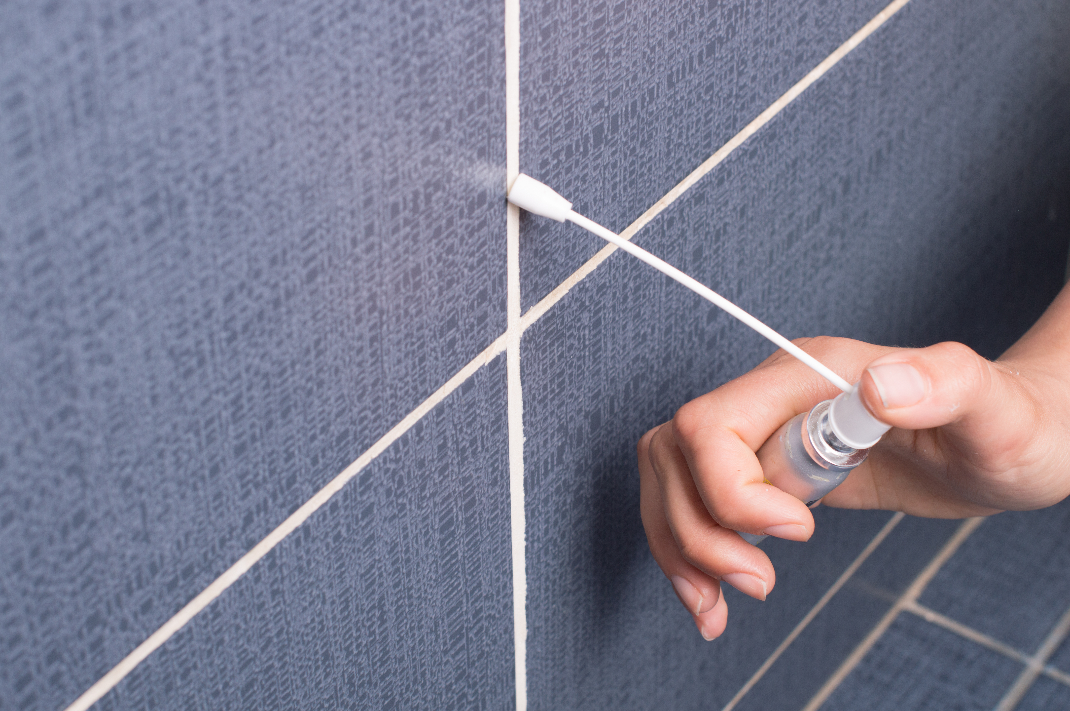 how to clean and re grout bathroom tile