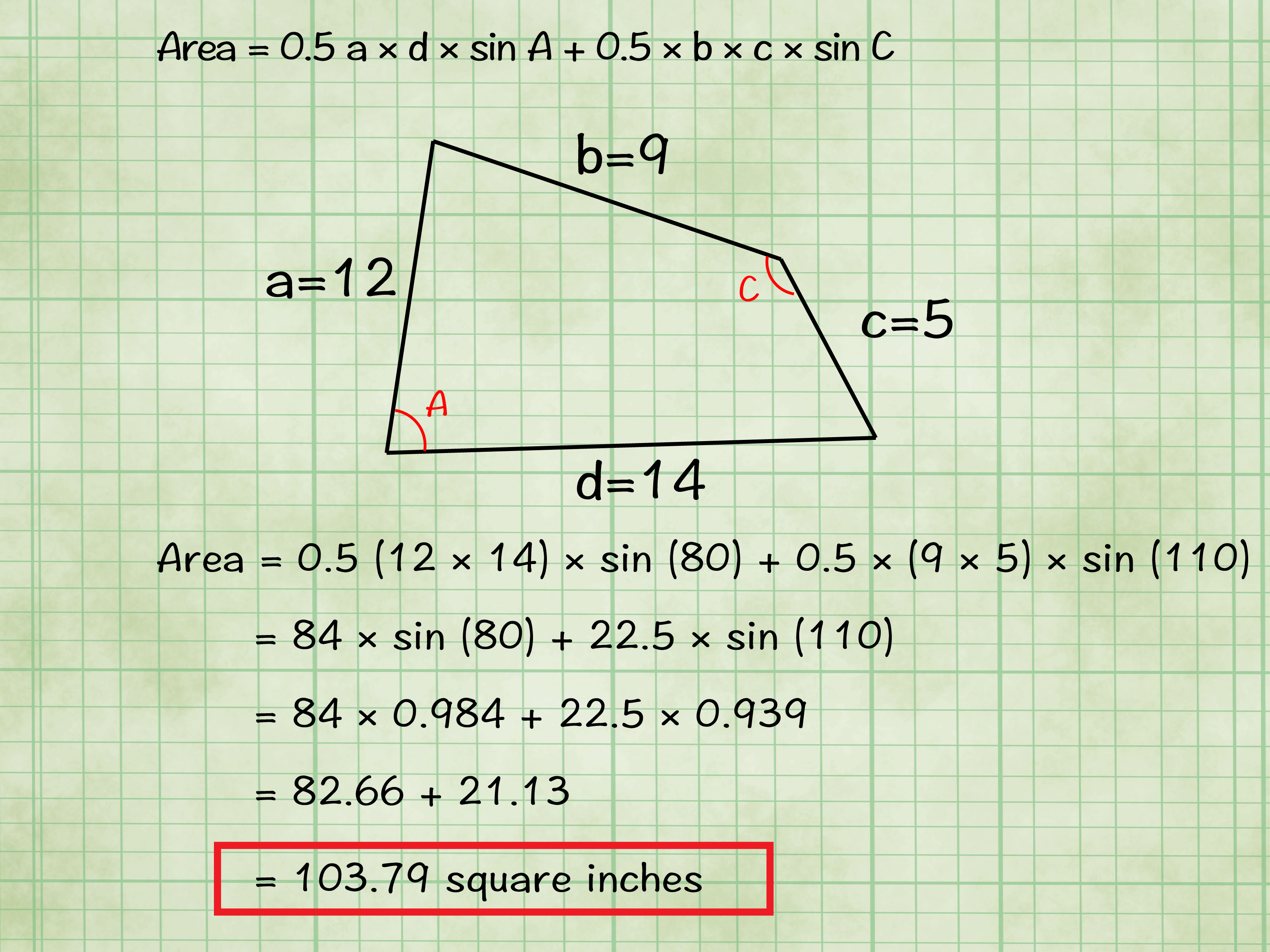 6 Ways To Find The Area Of A Quadrilateral