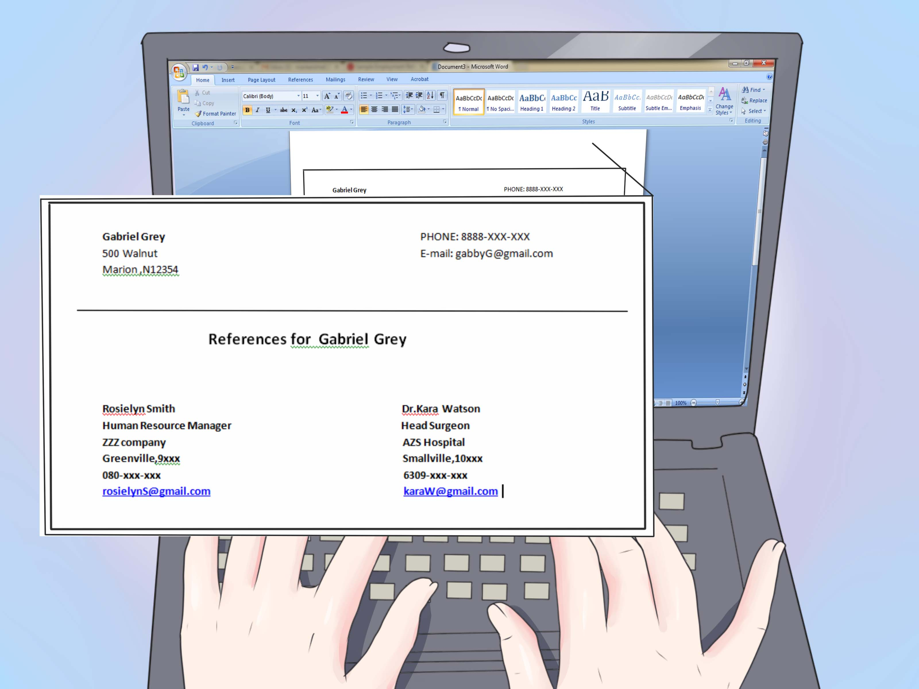 how to include references on a resume with examples wikihow