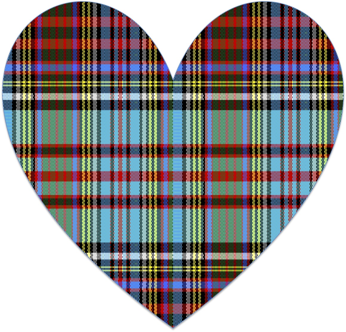 How To Make A Tartan Heart Image In Excel