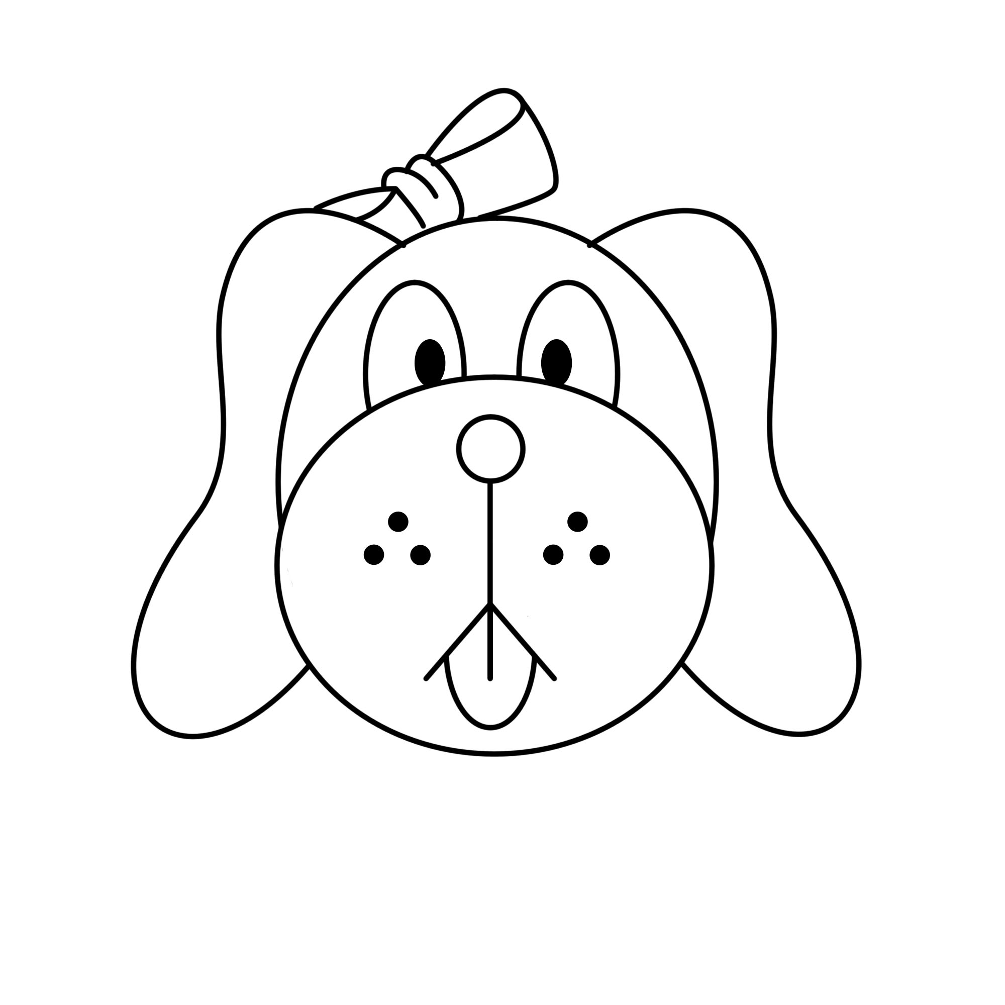 How To Draw A Dog Face With Pictures