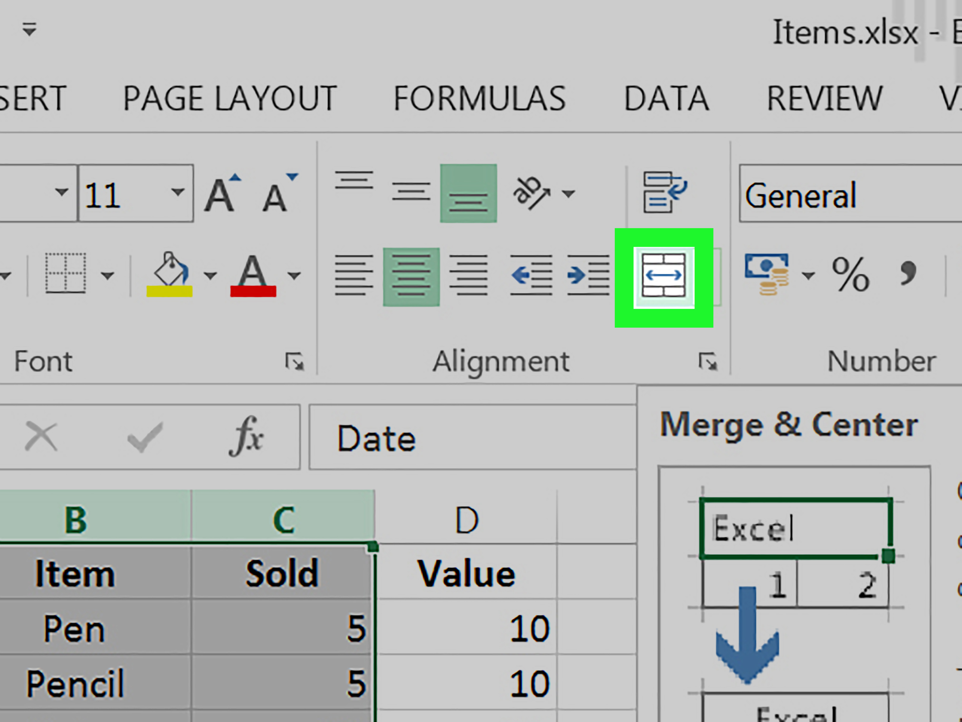 2 Easy Ways To Merge Cells In Excel With Pictures