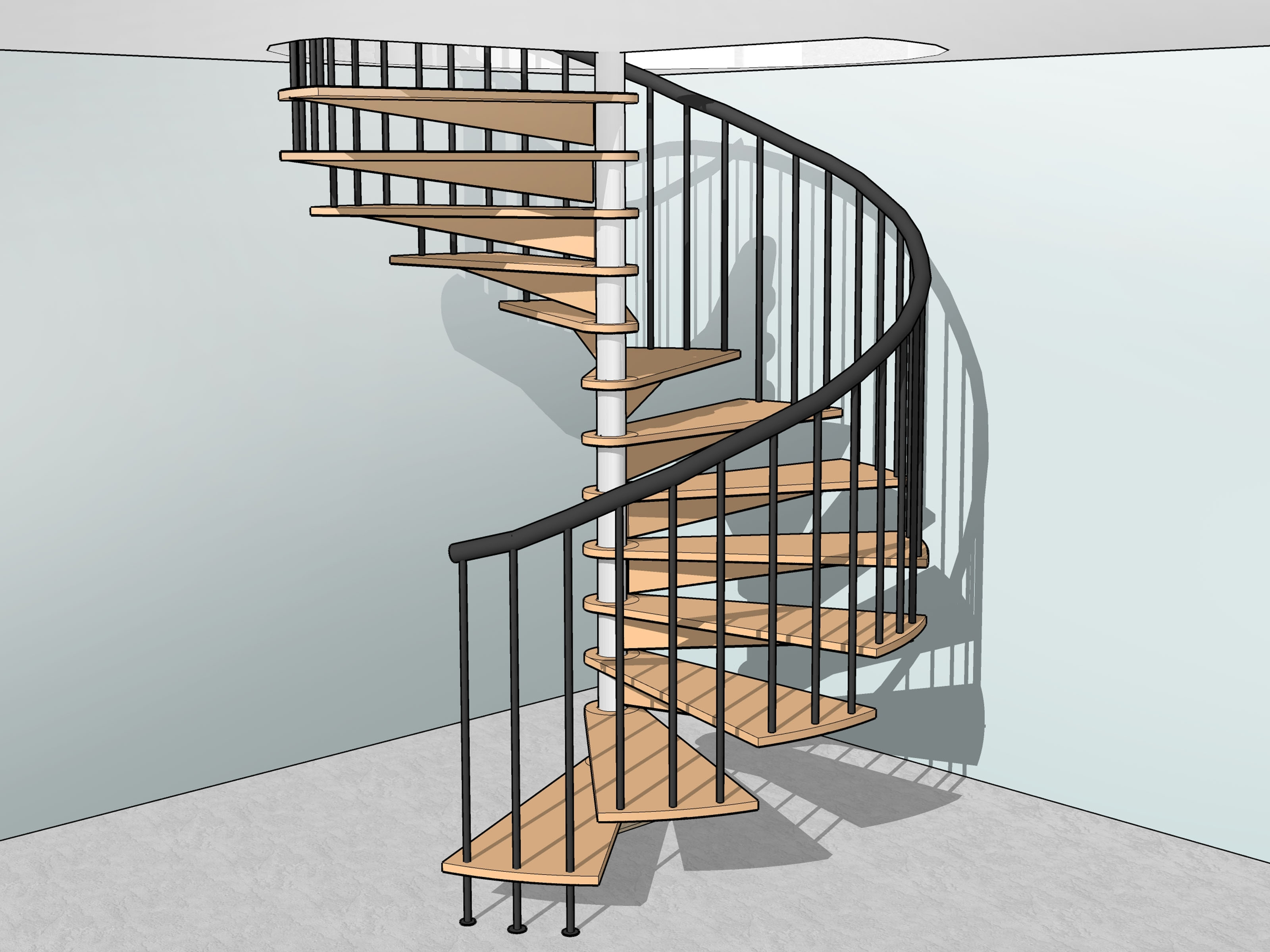 How To Build Spiral Stairs 15 Steps With Pictures Wikihow | 10 Ft Spiral Staircase | Handrail | 36 Tall | Arke Phoenix | Stair Kit | Arke Enduro