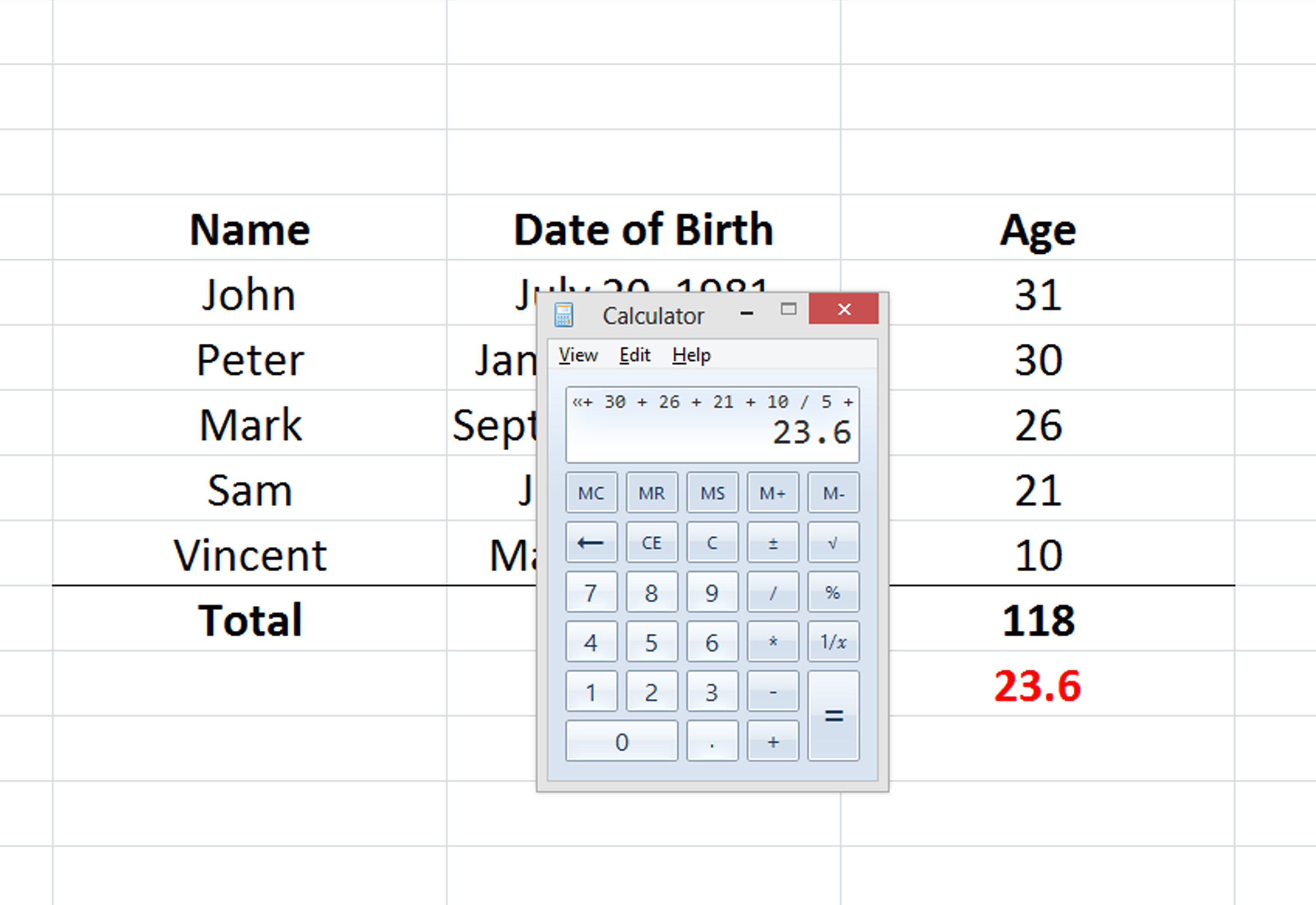 How To Calculate Average Age 3 Steps With Pictures