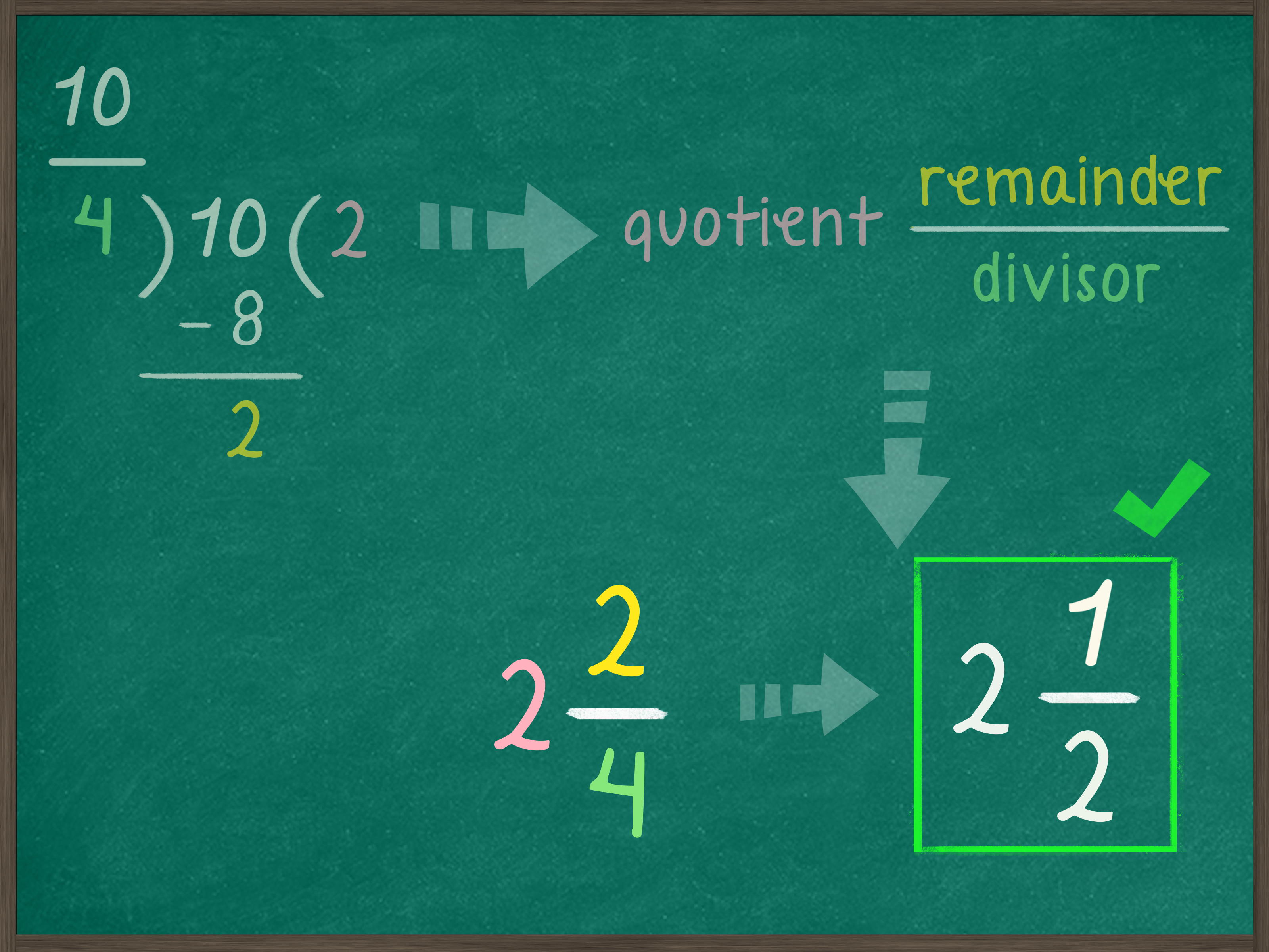 Simplify Improper Fractions