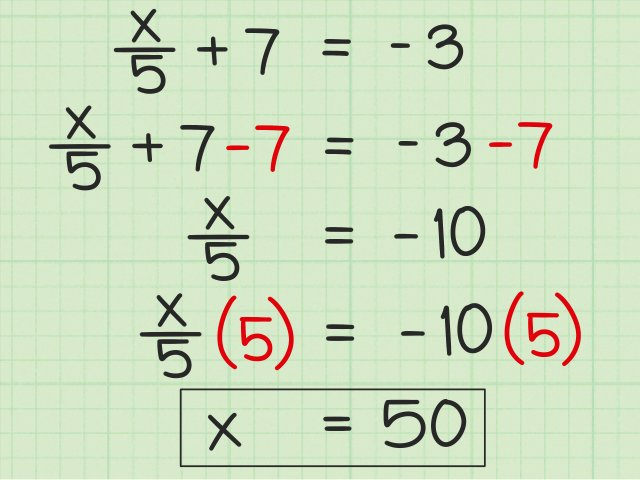 22 Ways to Solve Two Step Algebraic Equations - wikiHow