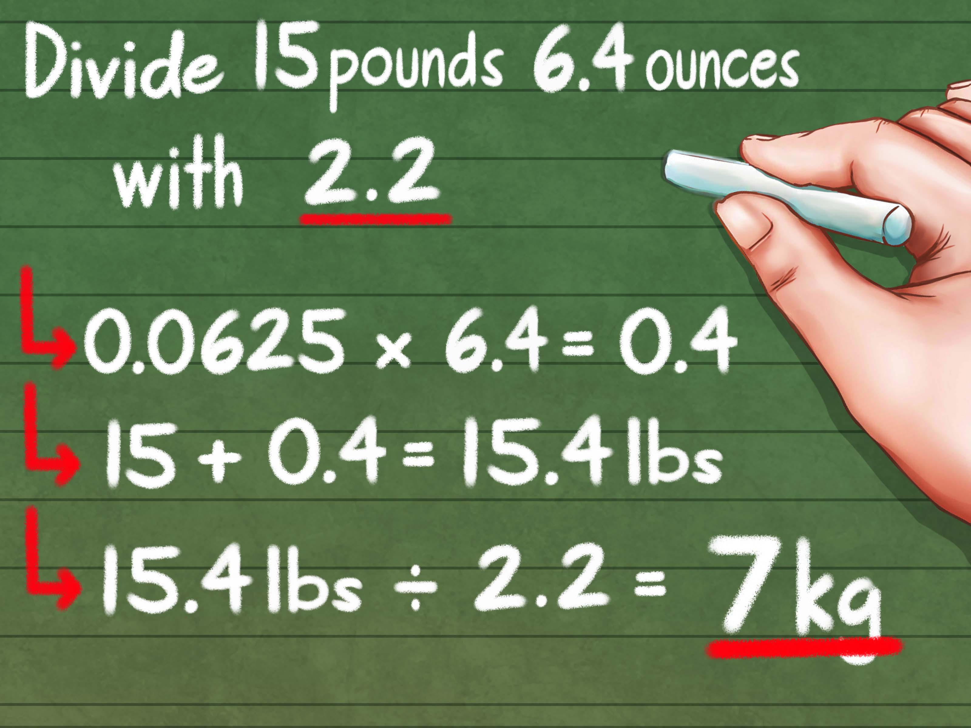 How To Convert Kilograms To Pounds 8 Steps With Pictures