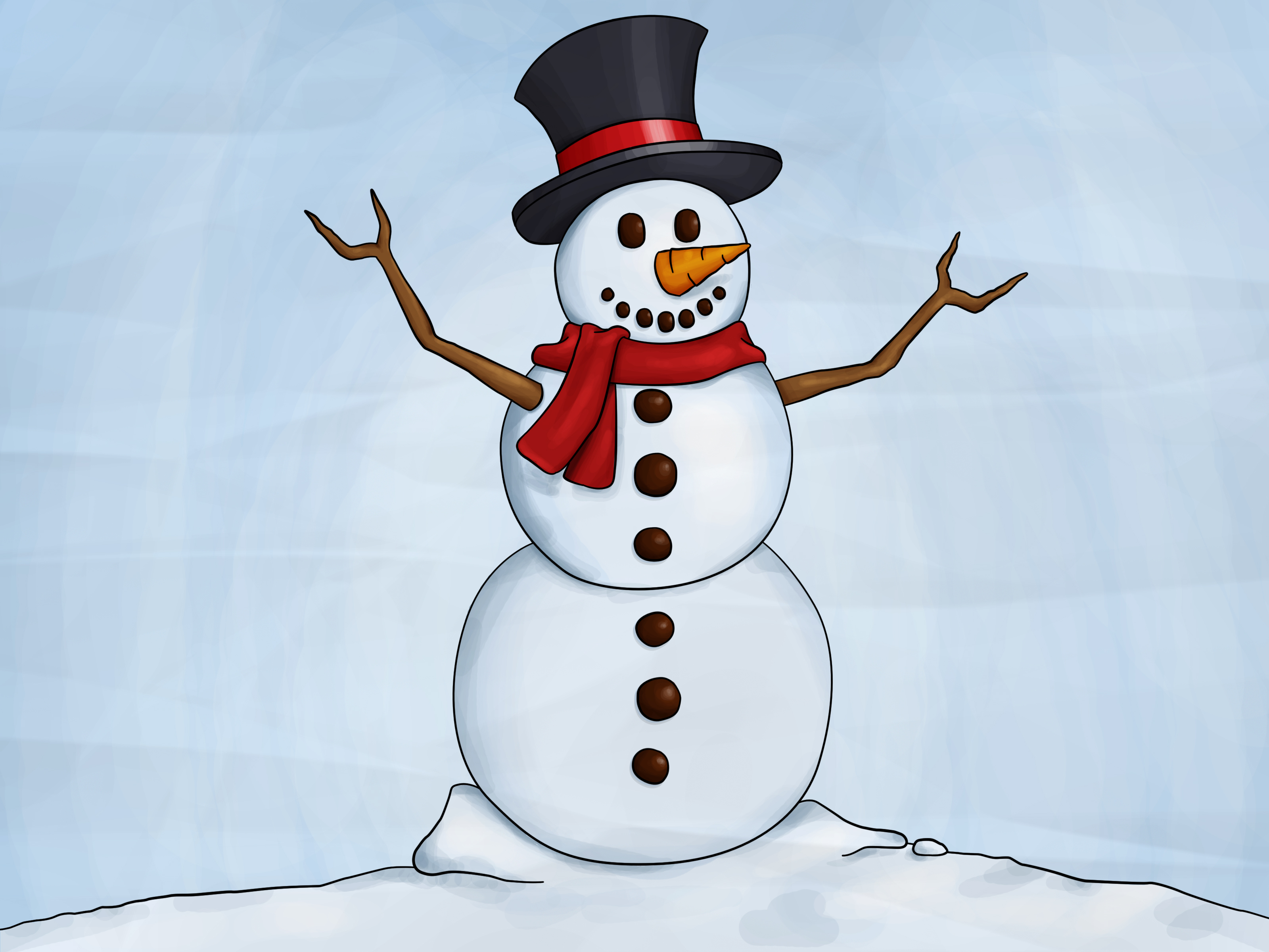 How To Draw A Snowman 8 Steps With Pictures