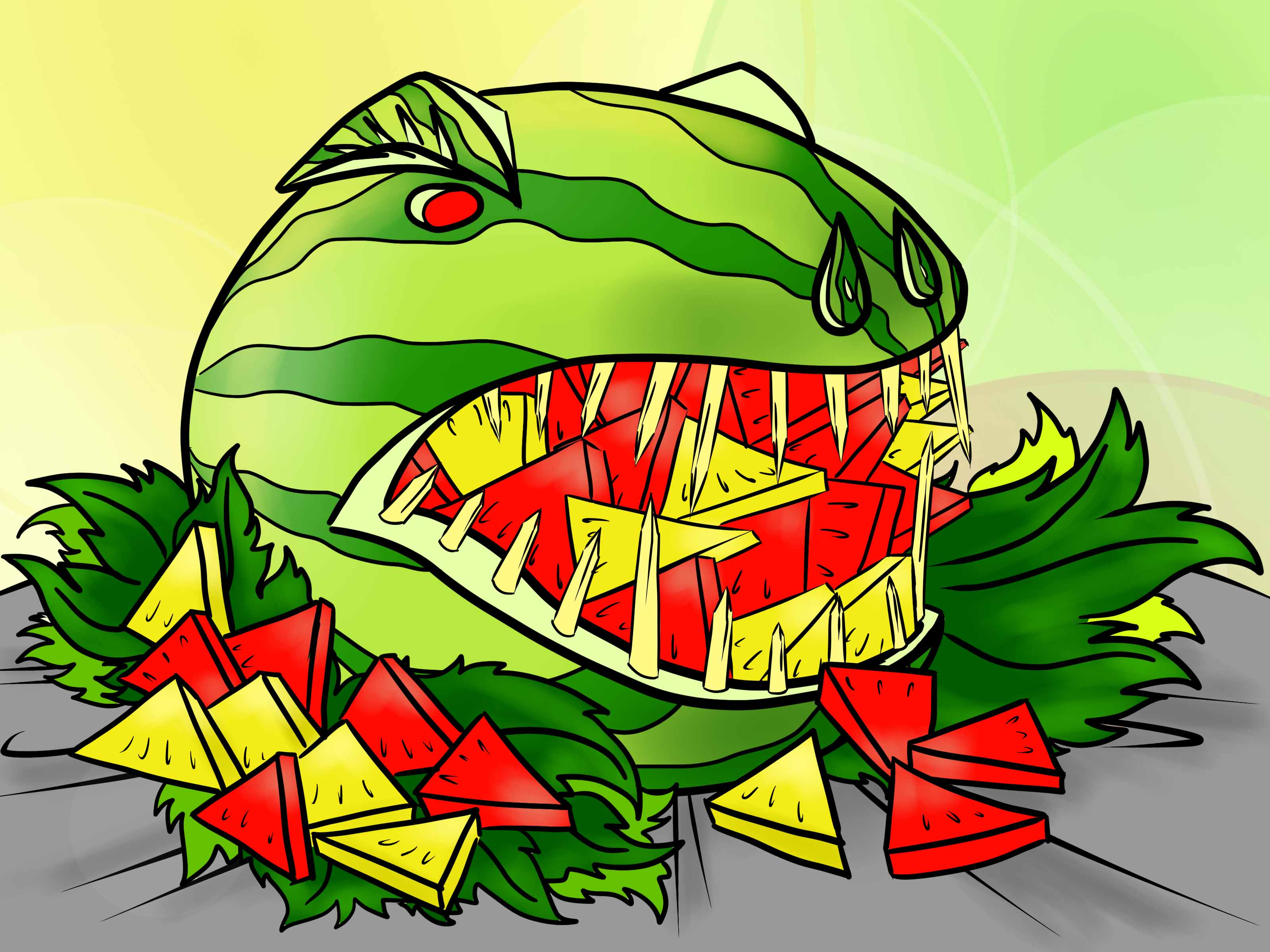 How To Carve A Watermelon T Rex Dinosaur 7 Steps With