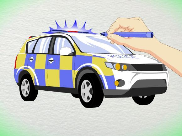 3 Ways to Draw a Police Car - wikiHow