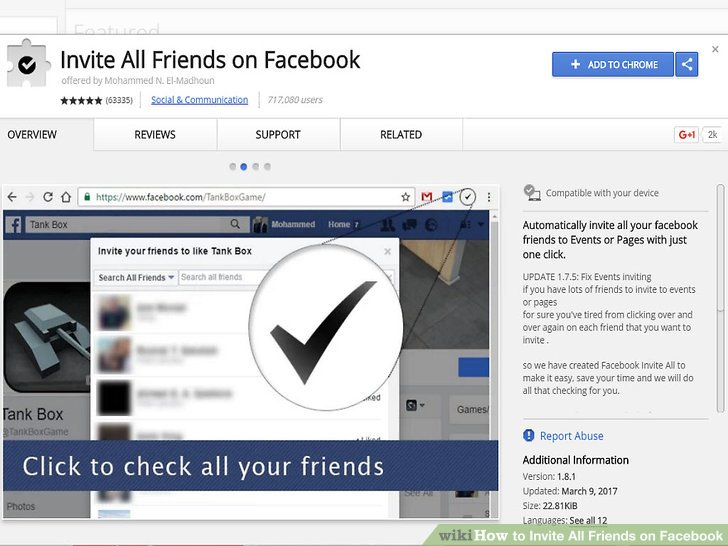 Image result for invite all friends on facebook extension