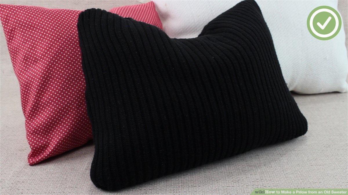 a pillow from an old sweater