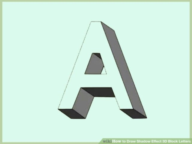 How to Draw Shadow Effect 3D Block Letters  with Examples  Image titled Draw Shadow Effect 3D Block Letters Step 7