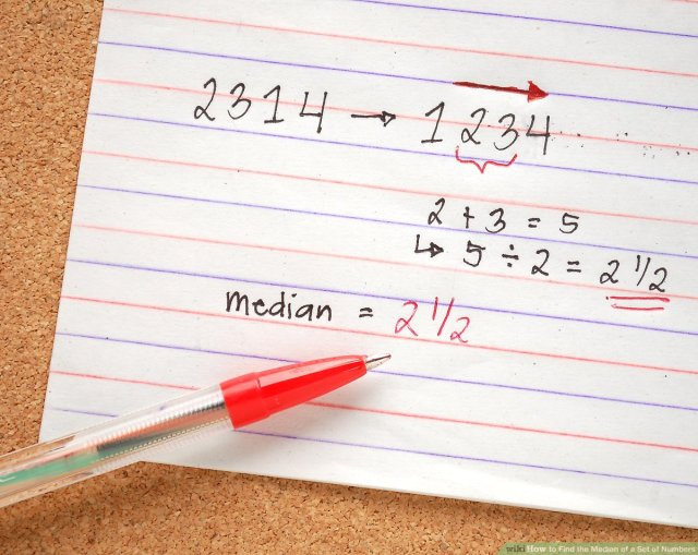 How to Find the Median of a Set of Numbers: 8 Steps