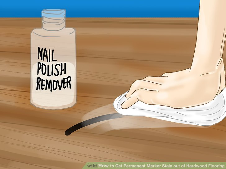 Image Led Get Permanent Marker Stain Out Of Hardwood Flooring Step 10 2 Apply The Nail Polish Remover