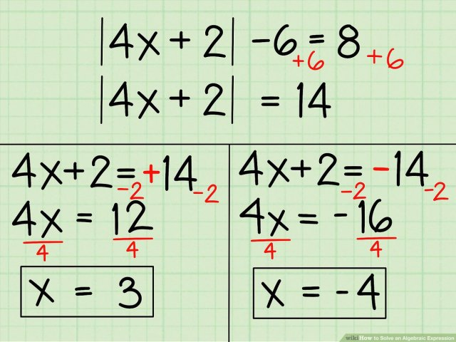 How to Solve an Algebraic Expression: 22 Steps (with Pictures)