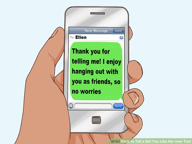 How to tell a girl you like her over text