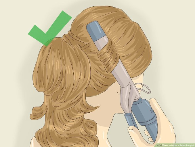 3 ways to make a retro ponytail - wikihow