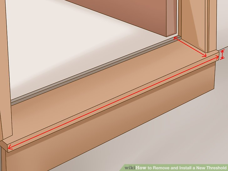 How To Remove And Install A New Threshold With Pictures