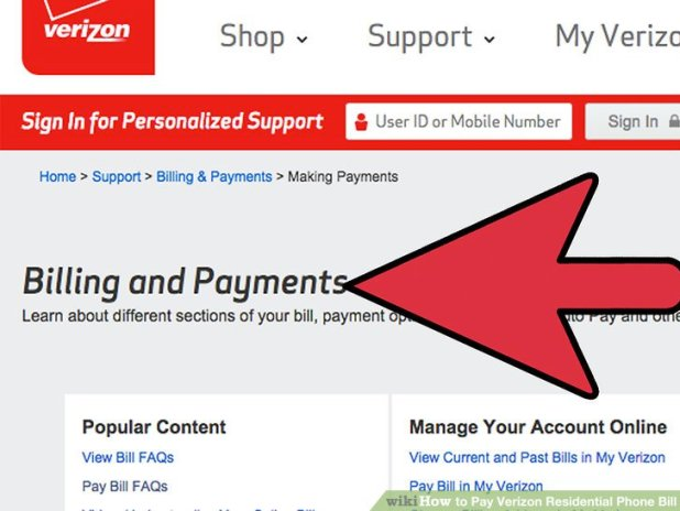 3 ways to pay verizon residential phone bill wikihow