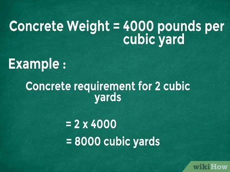 How To Figure Concrete Yardage 14 Steps With Pictures Wikihow