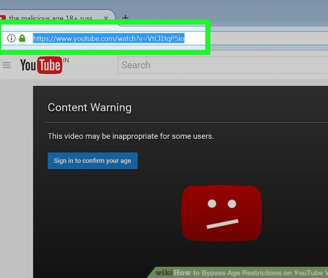 Image Titled Bypass Age Restrictions On Youtube Videos Step
