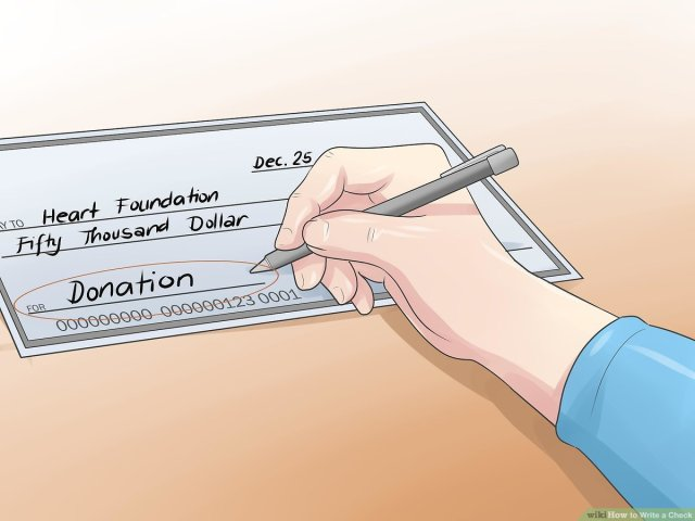 How to Write a Check: 11 Steps (with Pictures) - wikiHow