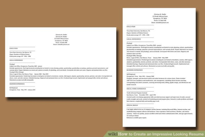 How to Create an Impressive Looking Resume  9 Steps Image titled Create an Impressive Looking Resume Step 9