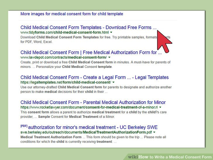 Free Fillable Forms » Child Medical Consent Form