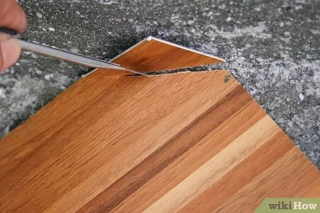 how to cut peel and stick vinyl tile