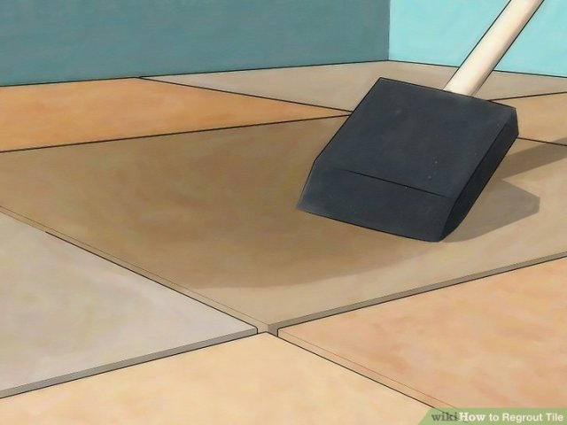 How to Regrout Tile  13 Steps  with Pictures    wikiHow Image titled Install Marble Floor Tile Step 18
