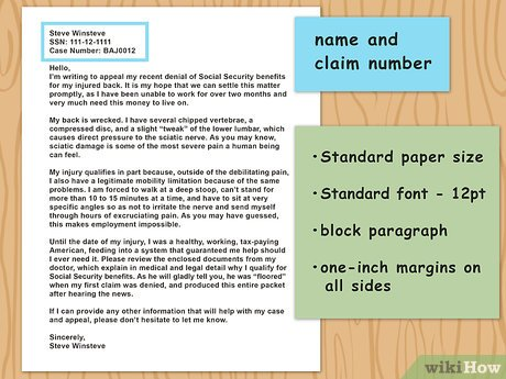 How to write a claim letter