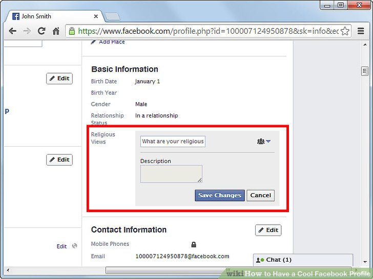 How To Have A Cool Facebook Profile 9 Steps With Pictures
