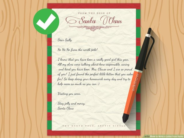 18 Ways to Write a Letter from Santa - wikiHow