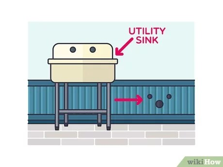 how to install a utility sink with