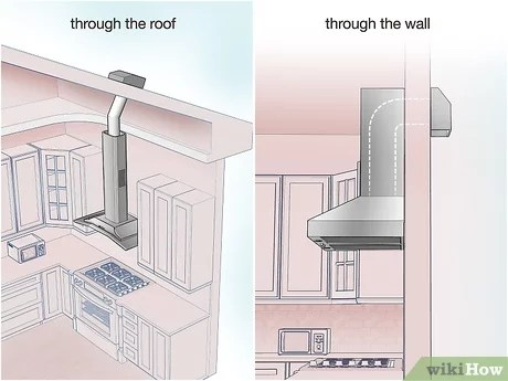 how to vent a stove with pictures