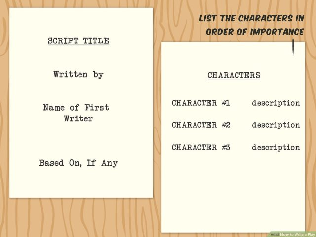 How to Write a Play (with Pictures) - wikiHow