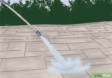 how to clean pavers with pictures