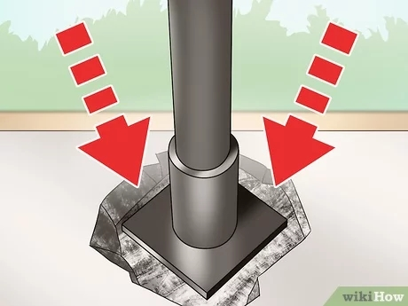 4 Ways To Repair A Wrought Iron Railing Wikihow | Loose Railing In Concrete | Stairs | Concrete Steps | Cement | Aluminum | Stair Stringers