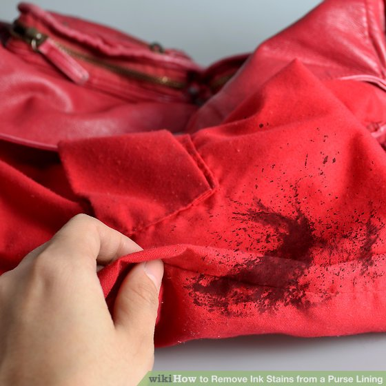 Image Led Remove Ink Stains From A Purse Lining Step 1