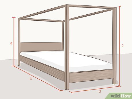 sew curtains for a four poster bed