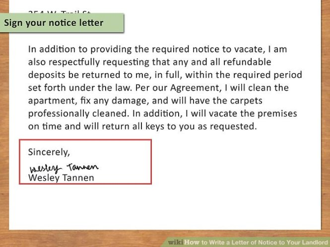 notice to vacate texas