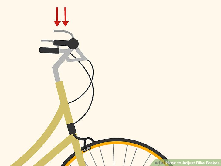 adjusting bicycle brakes
