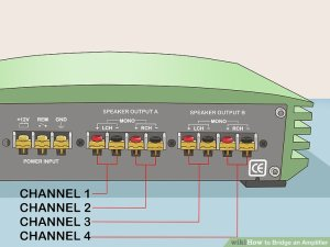 How to Bridge an Amplifier: 7 Steps (with Pictures)  wikiHow