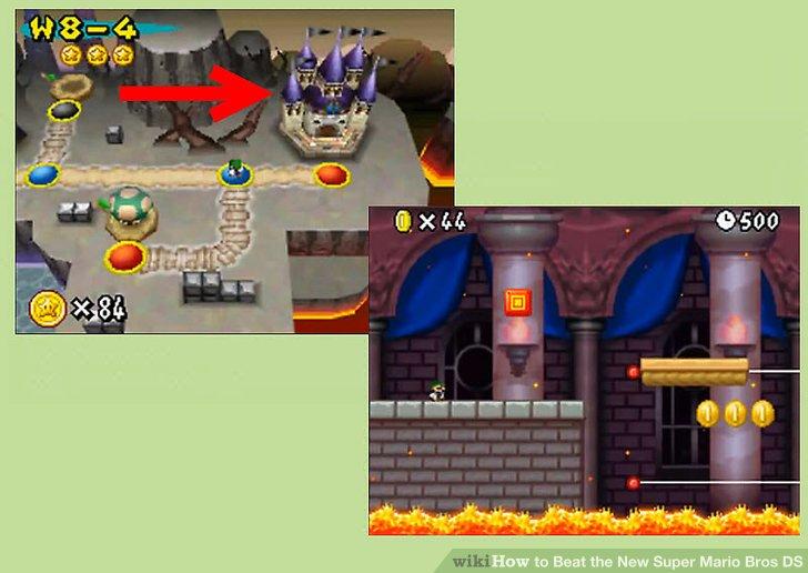 Mario Bros Ds World 8 Castle