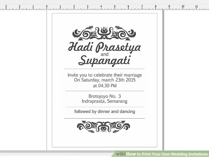 Image Led Print Your Own Wedding Invitations Step 13