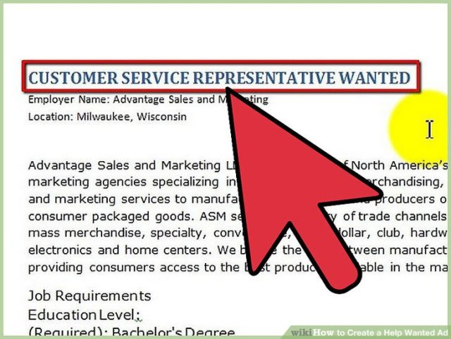 help wanted ad template free download