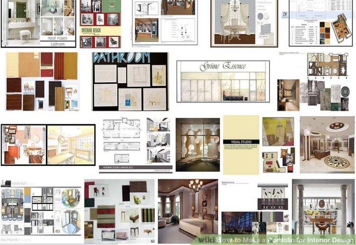 sample interior design portfolio student