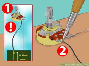 How to Wire a Potentiometer: 6 Steps (with Pictures)  wikiHow