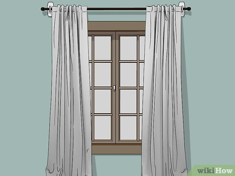 to hang curtains without drilling